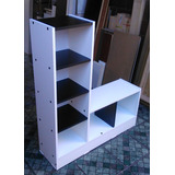 Mueble Multiuso Melamina Blanco / Negro 105.5 X 90 X25