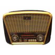 Radio Antigo Multifuncional Portátil Retro Top Am Fm Usb