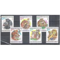 Bulgária 1992 Fauna Felinos Série Mint 6 Selos.