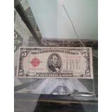 Billete De 5 Dolares De 1928