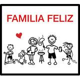 Sticker Familia Feliz Para Autos En Vinilo