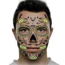 Tatuajes Temporales Calaveras Glow Dia De Muertos Hallowen