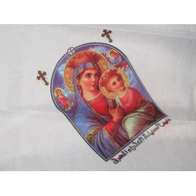 Panuelo Con Imagen-icono De La Virgen Maria Bizantino,copto