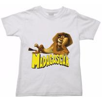 Camiseta Infantil Madagascar Melman Marty Glória Alex 05