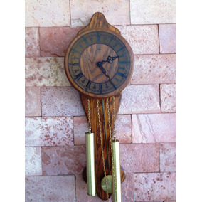 Antigo Relógio Germânico Ylme Pendulado Corda 8 Dias