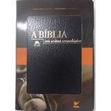 Bíblia Em Ordem Cronológica Nvi Preta Capa Couro Simulado