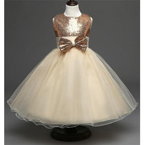 Vestido Festa Infantil Paetê Casamento Daminha Aniversário