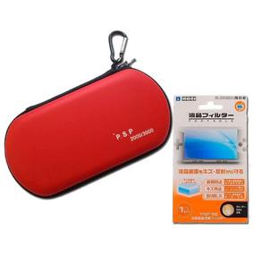 Case Sony Psp Slim 1000/2000/3000 E Película Frete Grátis