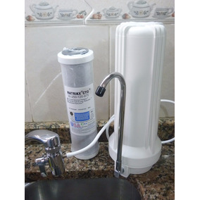 Purificador De Agua Sobremesada + Filtro Carbón Activado