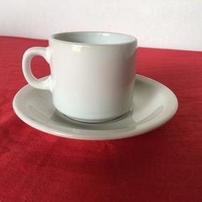 Taza De Desayuno Segunda Seleccion + Plato Porcelana X 24 U