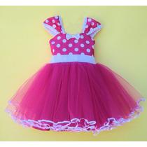 Vestido Disfraz Minnie Fucsia