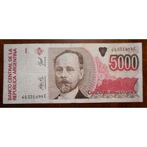 Billete De 5000 Cinco Mil Australes Serie C Circulado