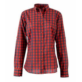 Camisa Brooksfield Mujer Moda Algodón Cuadros Bm03524z