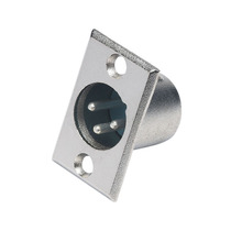 Plug Xlr Conector Cannon Macho Painel Microfone Dmx Mesa Som