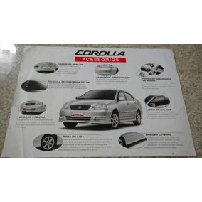 Catálogo Folder Acessórios Toyota Corolla 2003. N Hilux Rav4