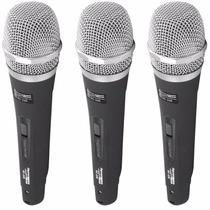 Kit 3 Microfones Profissionais Performance Sound + Cabos 4m