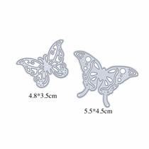 Suaje Troquel Mariposas Maquina Scrapbook Sizzix 2 Pzas
