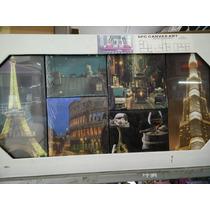 Cuadros Decorativos Torre Eiffel,paisaje Europeo,con Luz!!!