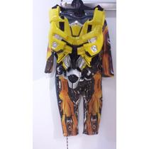 Disfraz De Transformers Bumblebee Nuevo Original Carnavalito