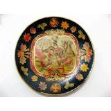 Prato Em Porcelana Chinesa Pintura Á Mão E Alto Relevo 16cm