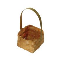 10 Mini Cesta Lembrancinha Palha Bambu Brinde Ref.1650 06x07