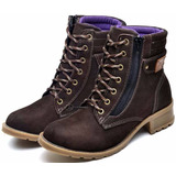 Coturno Bota Feminina Montaria Country Atron Shoes Couro