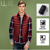 Campera Tipo Chaleco Uniqlo Sin Mangas Hombre Ultra Light
