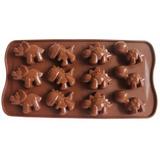 Molde Dinossauro Forminha Silicone Chocolate 1 Unidade