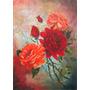 Quadro- Rosas Vermelha. Ost. 45x65 Cm V.salustriany