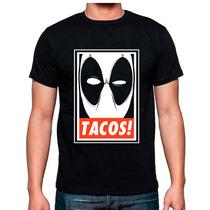 Playera Deadpool Tacos Marvel Tipo Obey Catalogo Mayoreo