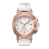 Relógio T-race Branco Tissot Gp + Tissot Branco Rosê 12x