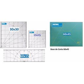 Kt Base 60 + Reguas P/ Patchwork 60x15 , 30x30 , 15x15