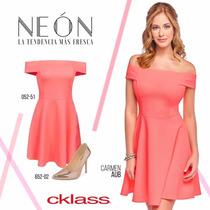 Vestido Cklass Naranja Neon Primavera Verano Envio Gratis