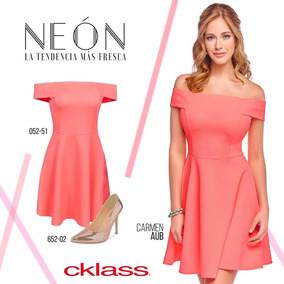 Vestido Cklass Naranja Neon Primavera Verano Nuevo