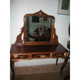 Antiga Penteadeira Provençal Com Espelho Bizote Decada 50