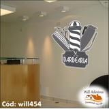 Adesivo Barbeiro Corte Cabelo Máquina Barba Navalha Will454