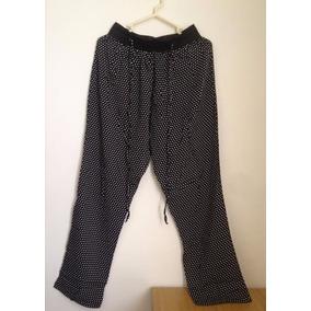 Pantalon De Tela Tipo Palazzo Suelto Para Dama Talla 28 Xs/s