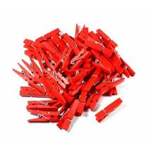 Miniatura Pregador Madeira Lembrancinha 100 Vermelho