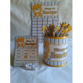 Bingo Chá De Bebê + Lápis Personalizado