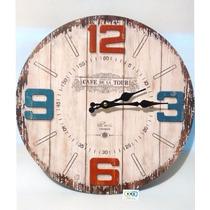 Reloj De Pared Vintage Tipo Madera