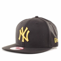 Boné Original New York Yankees Black/gold Snapback Aba Reta