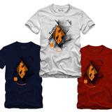 Kit 10 Pçs Camiseta Camisa Swag Rock Surf Malha Ecológica