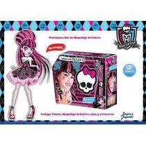 Monster High Lookeate Peluca Maquillaje Draculaura Legitimo