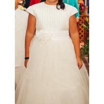 Vestido De Primera Comunión Marca Bambola Talla 12 Excelente