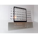 Calendario Perpetuo Personalizado Grabado Logo Dedicatoria