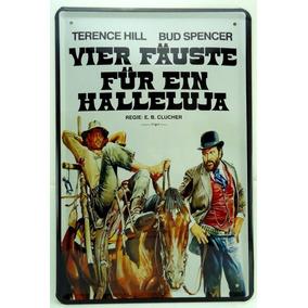Placa Metal Importada 30x20cm Terence Hill Bud Spencer V-445