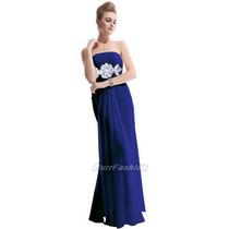 Vestido Madrinha Festa Formatura Casamento Longo Azul Royal