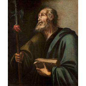 Lienzo Tela San Judas Tadeo Apostol Arte Sacro 50 X 60 Cm