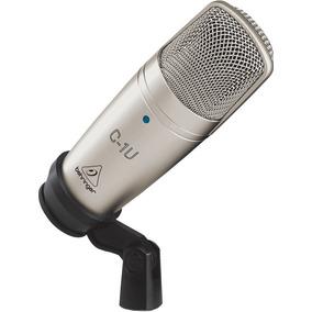 Microfone Condensador C/ Fio Estudio C-1u Usb Behringer