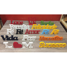 Letras Palavras Nomes Mdf Pintadas Amor Love Família E Mt +